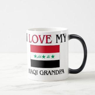 Amo a mi abuelo iraquí taza mágica