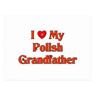 Amo a mi abuelo polaco postal