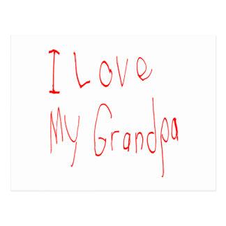 ¡Amo a mi abuelo! Postal