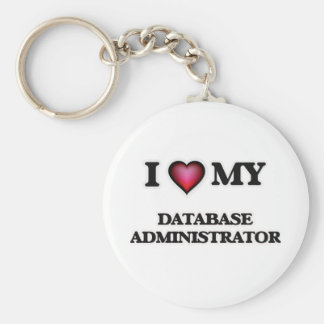 Amo a mi administrador de base de datos llavero redondo tipo pin