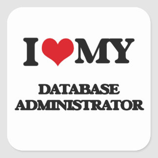 Amo a mi administrador de base de datos pegatina
