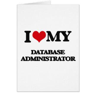 Amo a mi administrador de base de datos tarjetón