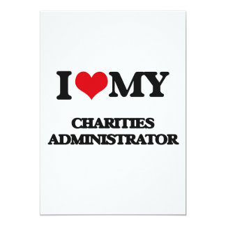 Amo a mi administrador de las caridades invitación 12,7 x 17,8 cm