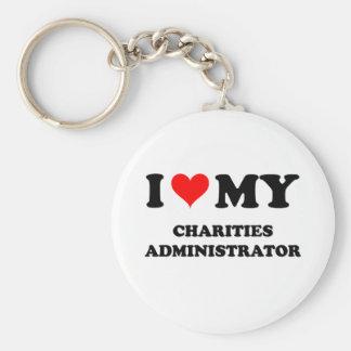 Amo a mi administrador de las caridades llaveros personalizados