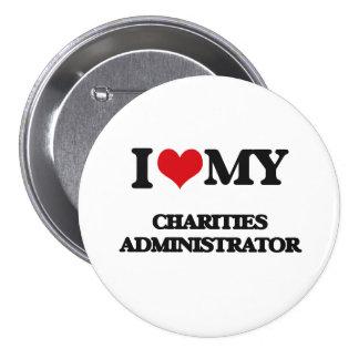 Amo a mi administrador de las caridades pin
