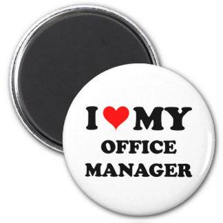 Amo a mi administrador de oficinas imán redondo 5 cm