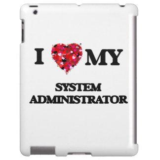 Amo a mi administrador de sistema funda para iPad