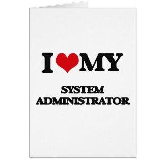 Amo a mi administrador de sistema tarjetón