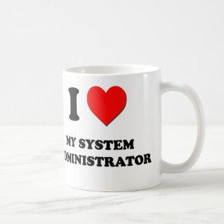 Amo a mi administrador de sistema taza de café