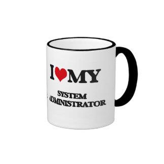 Amo a mi administrador de sistema tazas