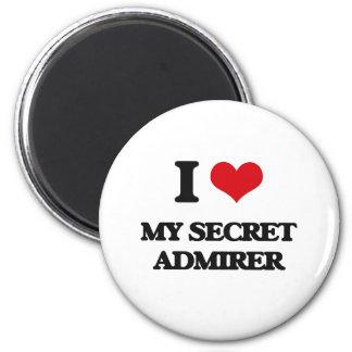Amo a mi admirador secreto imán redondo 5 cm
