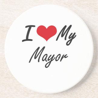 Amo a mi alcalde posavasos manualidades