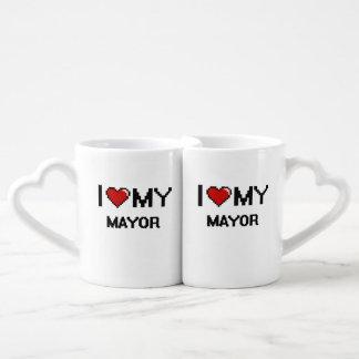 Amo a mi alcalde taza para enamorados