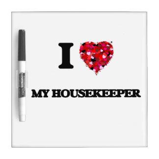 Amo a mi ama de casa tableros blancos
