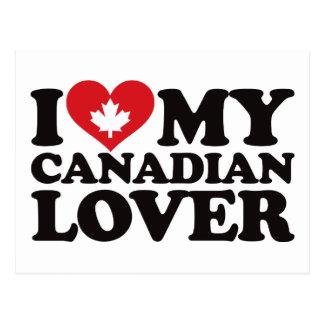Amo a mi amante canadiense postales