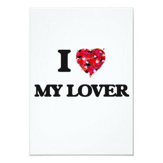 """Amo a mi amante invitación 3.5"""" x 5"""""""