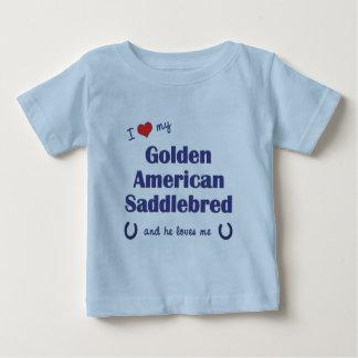 Amo a mi americano de oro Saddlebred (el caballo Poleras