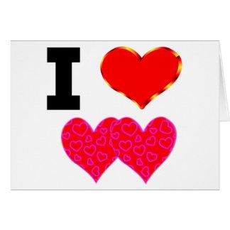 Amo a mi amor tarjeta de felicitación