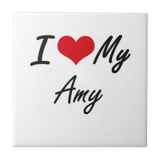 Amo a mi Amy Azulejo Cuadrado Pequeño