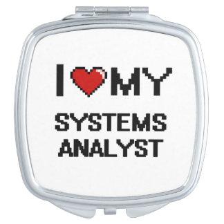 Amo a mi analista de sistemas espejos maquillaje