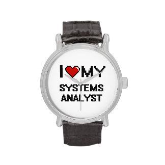 Amo a mi analista de sistemas reloj de mano