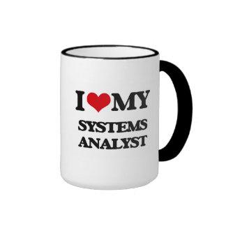 Amo a mi analista de sistemas taza
