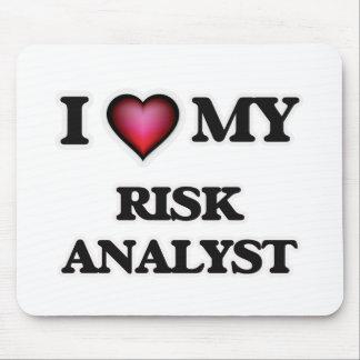 Amo a mi analista del riesgo tapete de ratones