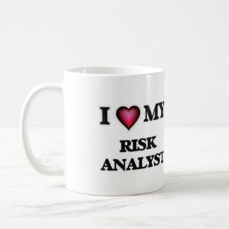 Amo a mi analista del riesgo taza de café