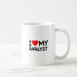 Amo a mi analista taza clásica