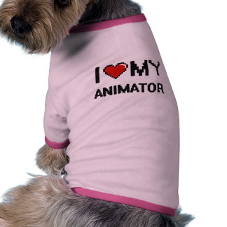 Amo a mi animador camisetas de perro