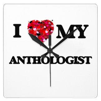 Amo a mi Anthologist Reloj Cuadrado