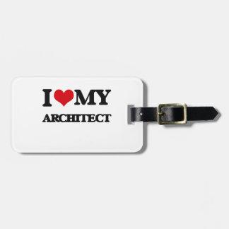 Amo a mi arquitecto etiquetas para maletas