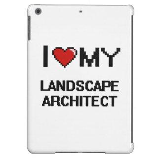 Amo a mi arquitecto paisajista funda para iPad air