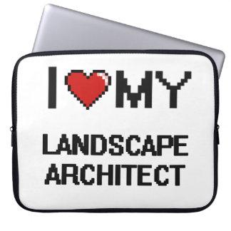 Amo a mi arquitecto paisajista funda portátil