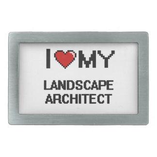 Amo a mi arquitecto paisajista hebillas cinturon rectangulares