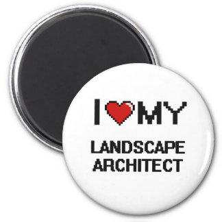 Amo a mi arquitecto paisajista imán redondo 5 cm