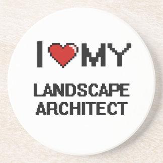 Amo a mi arquitecto paisajista posavasos manualidades