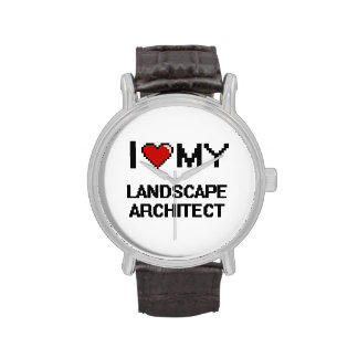 Amo a mi arquitecto paisajista relojes de pulsera