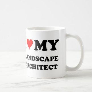 Amo a mi arquitecto paisajista taza básica blanca
