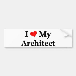 Amo a mi arquitecto pegatina de parachoque