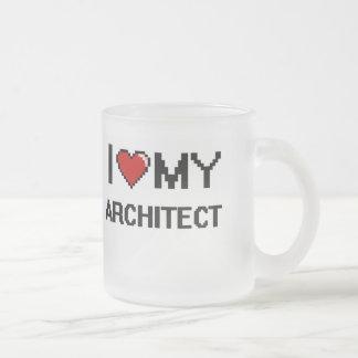 Amo a mi arquitecto taza de cristal