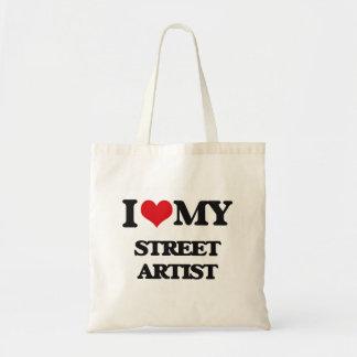 Amo a mi artista de la calle bolsas lienzo
