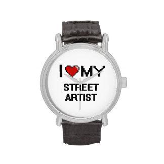 Amo a mi artista de la calle relojes de pulsera