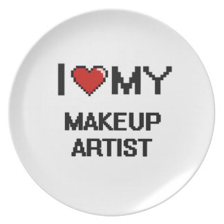 Amo a mi artista de maquillaje platos