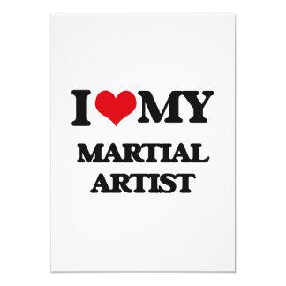 Amo a mi artista marcial invitación 12,7 x 17,8 cm