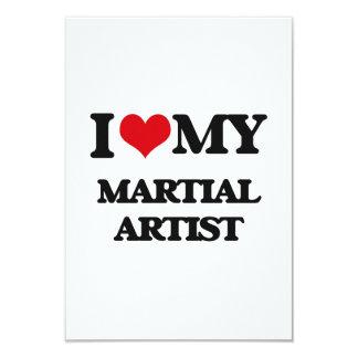 Amo a mi artista marcial invitación 8,9 x 12,7 cm