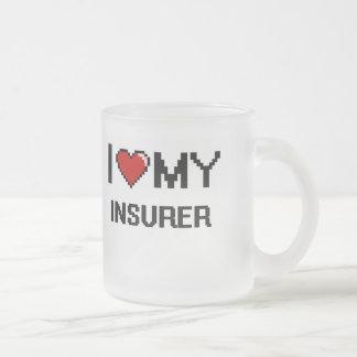 Amo a mi asegurador taza cristal mate