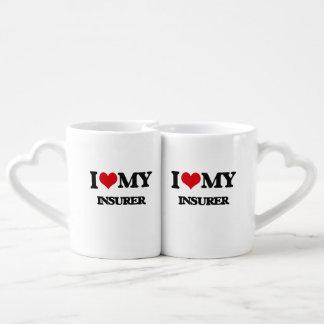 Amo a mi asegurador tazas para parejas