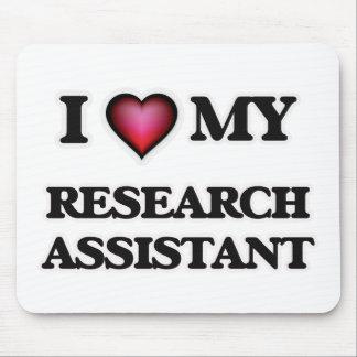 Amo a mi asistente de investigación mouse pad