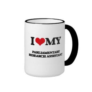 Amo a mi asistente de investigación parlamentario tazas de café